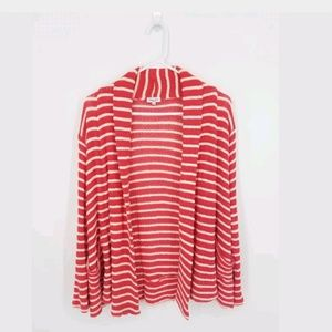 Splendid Cardigan S Pink Striped Knit Pockets